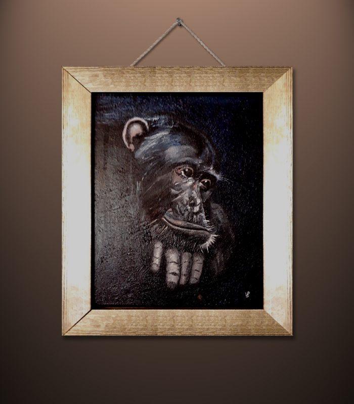 Chimpanzee by Vincent Butler Artist Morayshire Scotland