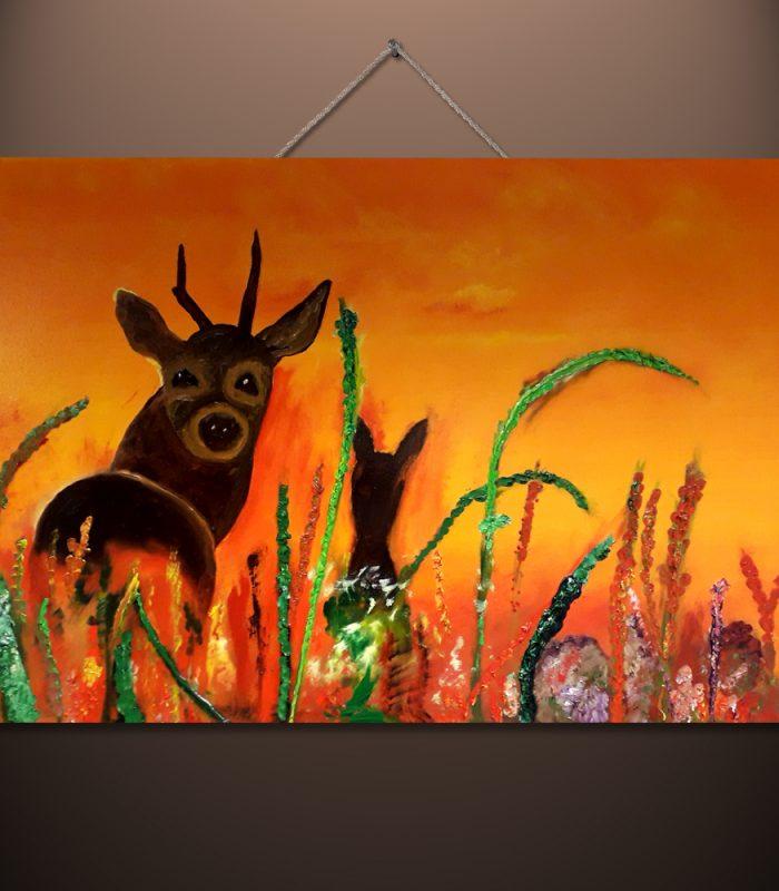 Deer by Vincent Butler Artist Morayshire Scotland