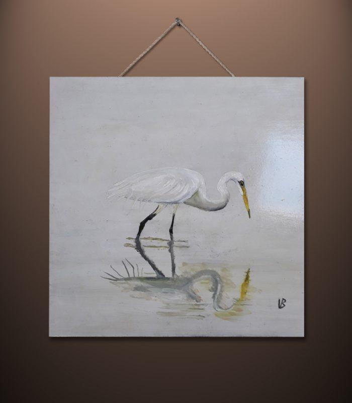 Heron by Vincent Butler Artist Morayshire Scotland